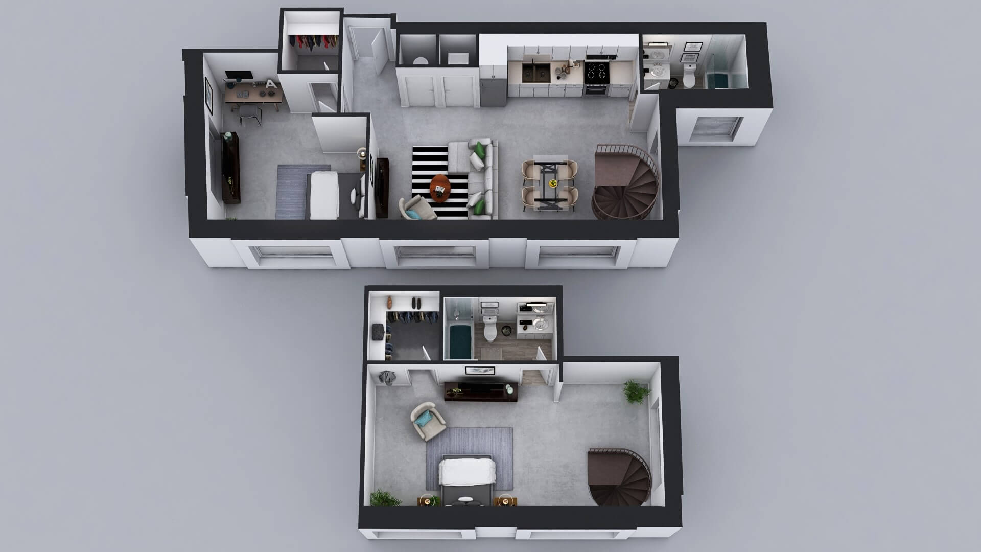 B13 Floor Plan - 2 Bed 2 Bath Penthouse