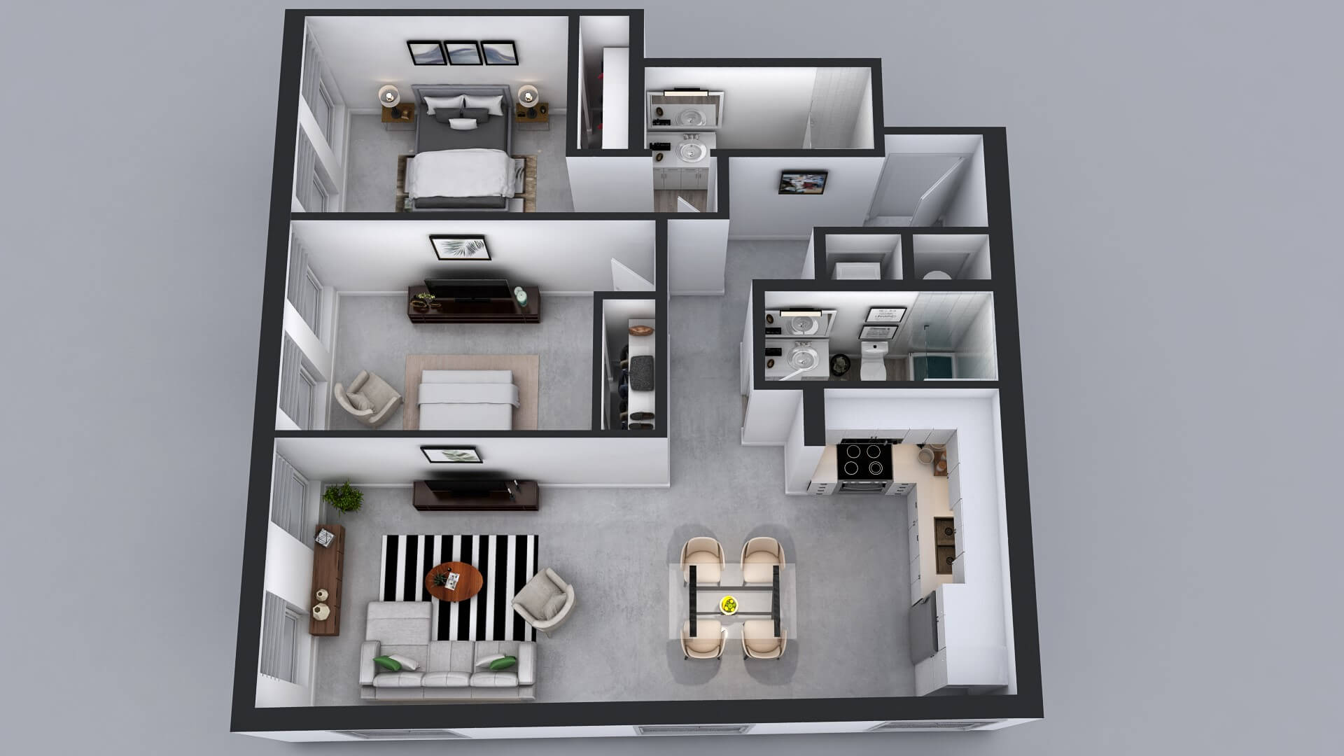 B8 Floor Plan - 2 Bed 2 Bath