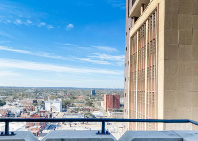 Expansive Downtown View of Mobile, AL from Merchants Plaza Apartments