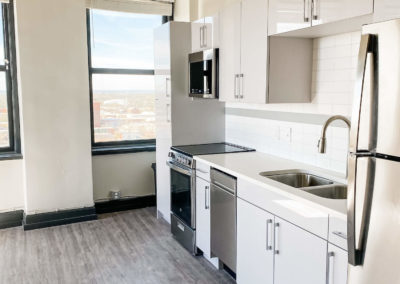 Stainless Steel Energy Star Appliances Inside of an Apartment at Merchants Plaza