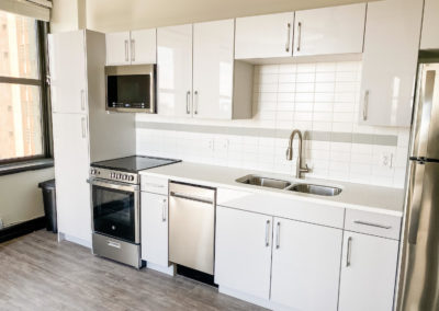 Tiled Kitchen of a Brand New Apartment at Merchants Plaza