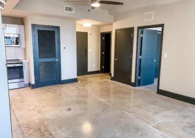 Empty Apartment with Black Doors at Merchants Plaza