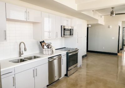 Kitchen Area of an Apartment at Merchants Plaza
