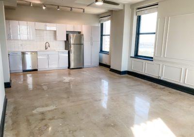 Interior Kitchen Area of a Brand New Apartment at Merchants Plaza