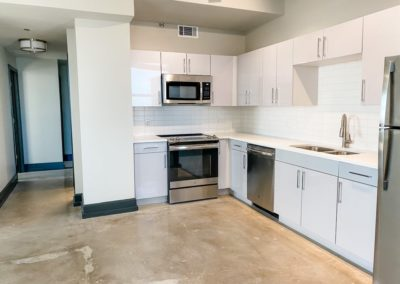 Stainless Steel Energy Star Appliances at Merchants Plaza's Downtown Mobile Apartments