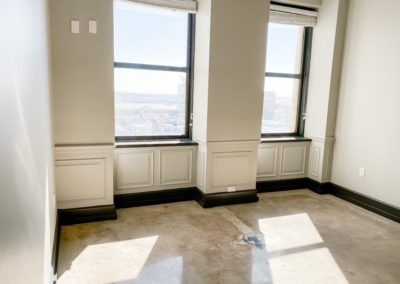 Large Windows with Deep Window Sills at Merchants Plaza's Downtown Mobile Apartments